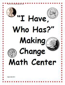 Amazing Math Centers - Making Change