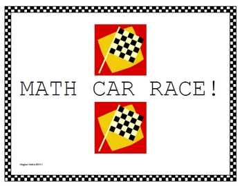 Amazing Math Centers - MathCar Race!