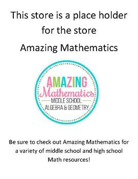 Amazing Math Freebie