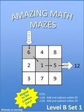 Amazing Math Mazes - Level B Set 1