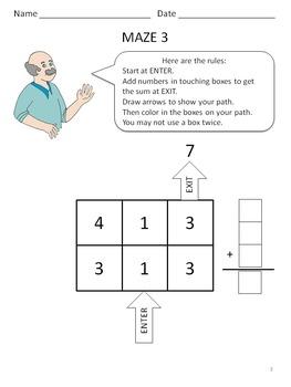 Amazing Math Mazes -  Level A Set 3