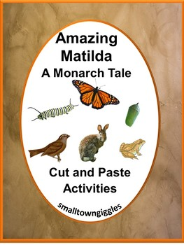 Amazing Matilda A Monarch Tale Book Companion Kindergarten Distance Learning