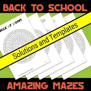 Back to School Amazing Mazes