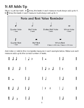Amazing Music Activities: Time Signatures