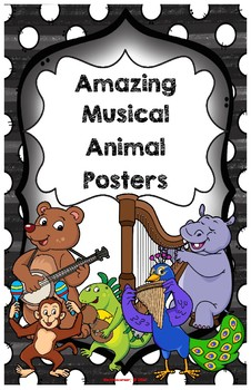 Amazing Alphabet Musical Animal Posters: Large (11 x 17) PDF - Color Edition