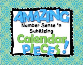 Amazing Number Sense and Subitizing Calendar Pieces--ALL TEN SETS