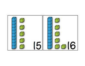 Amazing Number Sense and Subitizing Calendar Pieces--Base Ten Blocks Set
