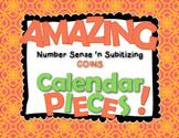 Amazing Number Sense and Subitizing Calendar Pieces--Coins Set