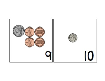 Amazing Number Sense and Subitizing Calendar Pieces--Coins Set