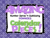Amazing Number Sense and Subitizing Calendar Pieces--Dominoes Set