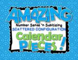 Amazing Number Sense and Subitizing Calendar Pieces--Scattered Configuration Set