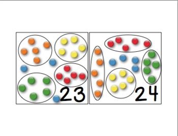 Amazing Number Sense and Subitizing Calendar Pieces--Scattered Configuration Set