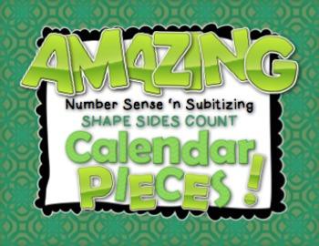 Amazing Number Sense and Subitizing Calendar Pieces--Shape