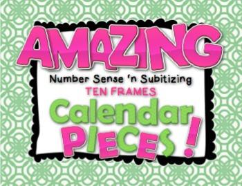 Amazing Number Sense and Subitizing Calendar Pieces--Ten F