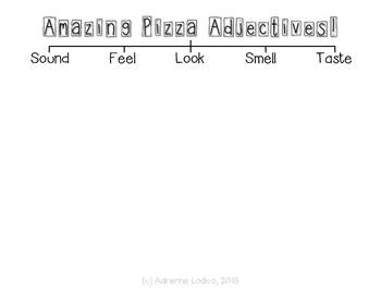 Amazing Pizza Adjectives - a FREE writing craftivity