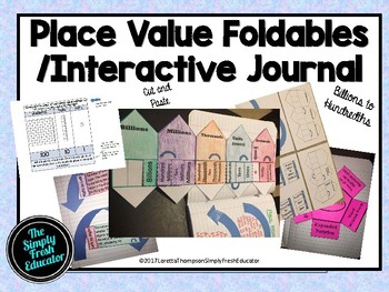 Amazing Place Value Foldables- Cut and Paste for the Beginning of the Year!!