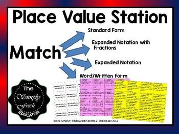 Amazing Place Value Station-Practice for STAAR