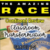 Amazing Race Continent Review (Classroom Transformation grades 2-4)