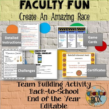 Amazing Race Faculty Fun! Team Building Activity *Back To School*