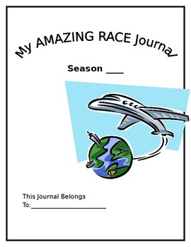 Amazing Race - Season 29 - Writing Journal with Contestant Photo Cards