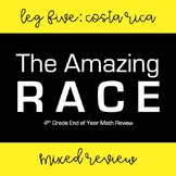 Amazing Race Math: Leg Five (Mixed Review) 4th Grade