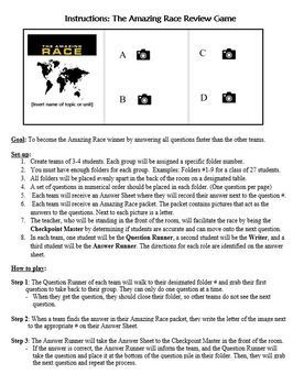 Amazing Race Review Game: Using Images to Assess Knowledge