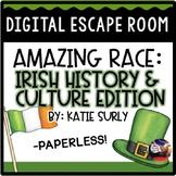 St. Patrick's Day DIGITAL Escape Room: Irish History Amazing Race Breakout