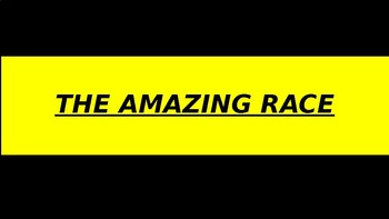 Amazing Race Station Signs