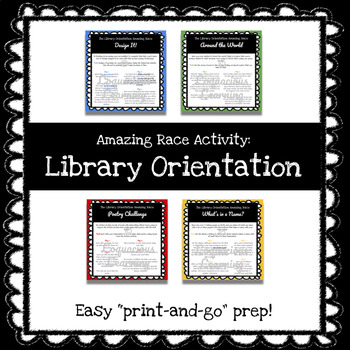 Amazing Race Style Library Orientation Game for Middle/High School