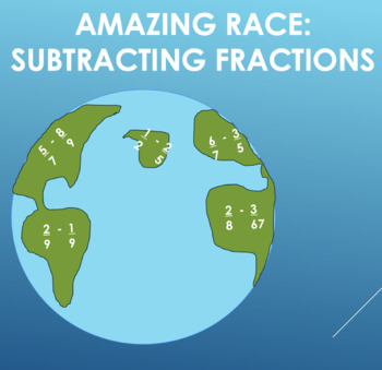 Amazing Race: Subtracting Fractions Edition
