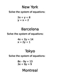 Amazing Race Systems of Equations