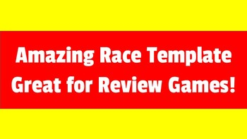 amazing race template editable by 21st century creative teacher
