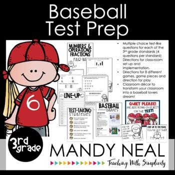 3rd Grade Math Test Prep Review/Digital Math Centers /Forms/Distance Learning
