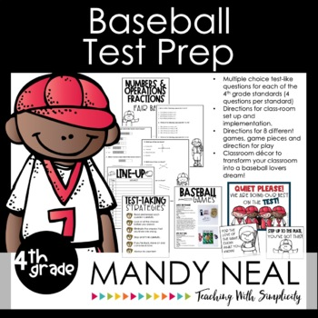 4th Grade Math Test Prep Review/Digital Math Centers /Forms/Distance Learning