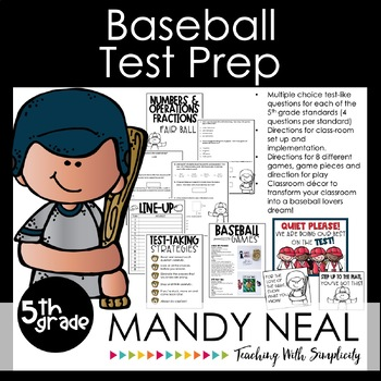 5th Grade Math Test Prep Review/Digital Math Centers /Forms/Distance Learning