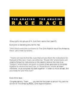 Amazing Race for Girls Night In