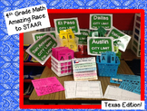 Amazing Race to STAAR 4th Grade Math Texas Edition Based o