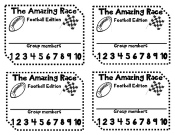 Amazing Race/Football-Rational Numbers Edition