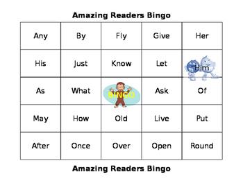Amazing Readers Bingo