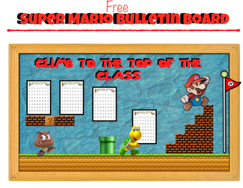 Super Mario: Bulletin Board   (Climb to the top of the class)