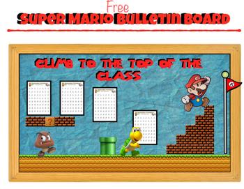 Free Super Mario: Bulletin Board   (Climb to the top of th