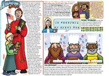 Amazing Saints Activity Page - January - St. John Neumann