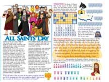 Amazing Saints Activity Page - November 1 - All Saints Day