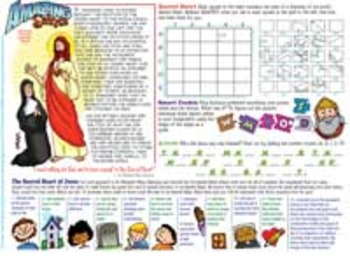 Amazing Saints Activity Page - October - St. Margaret Mary Alacoque