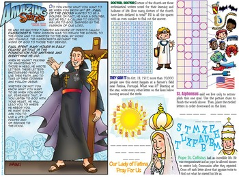Amazing Saints Activity Page - October - St. Paul of the Cross