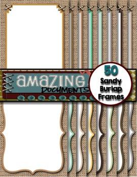 Amazing Sandy Burlap Frames