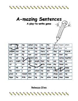 Amazing Sentence Builder Game