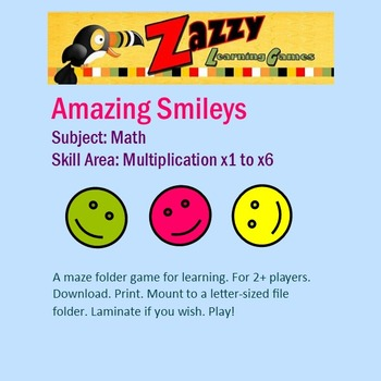 Amazing Smileys Folder Game for x1 to x6