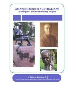 History of Australia: Amazing South Australians: Simulation & Webquest
