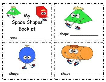 3 Dimensional- Space Shapes Posters and Minibooklet FREEBIE of the WEEK